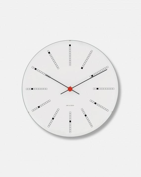 Arne Jacobsen Bankers Clock vægur dia 29 cm - design 1971