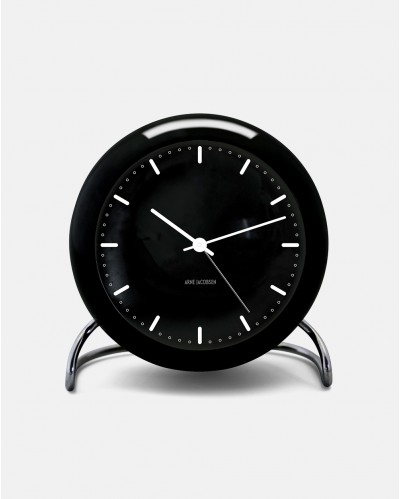 Arne Jacobsen City Hall Table Clock with Alarm
