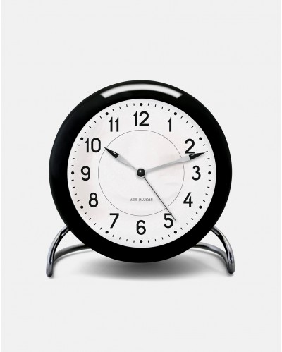 Arne Jacobsen Station Table Clock with Alarm