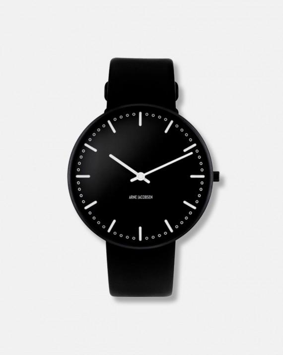 Arne Jacobsen City Hall Wrist Clock black dia 40 - design 1956