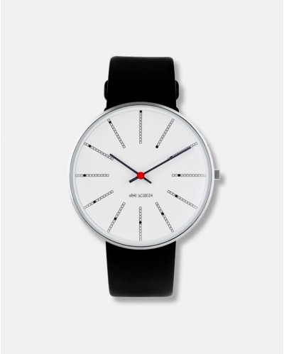 Arne Jacobsens Bankers Clock watch dia 40 mm - design 1971