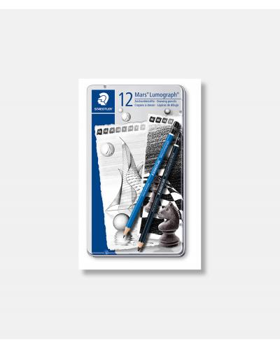 Mars Lumograph og Black Artist blyanter 12 stk.