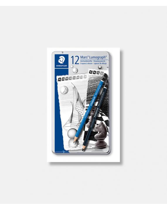 Mars Lumograph and Black Artist pencils 12 ps
