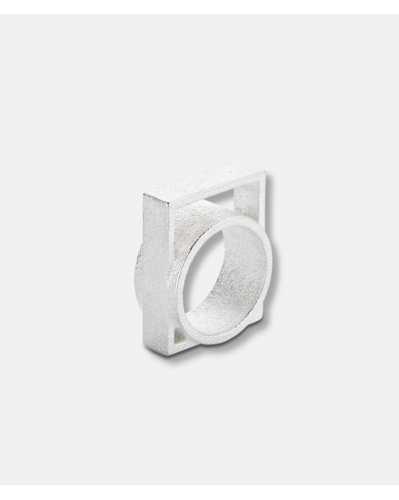 OLA 3 D Unified Collection Ring III Silver