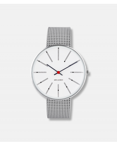 Arne Jacobsen Bankers Mesh Strap Watch dia 40 mm - design 1971