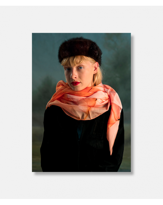 Folded Paper silketørklæde 90 x 90 cm