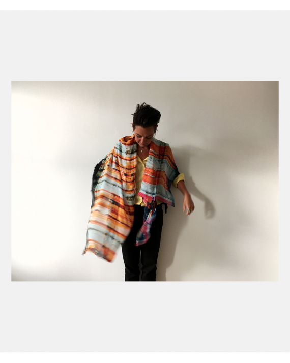 Chalk, Sugar and Pigment silketørklæde - orange 180 cm x 109