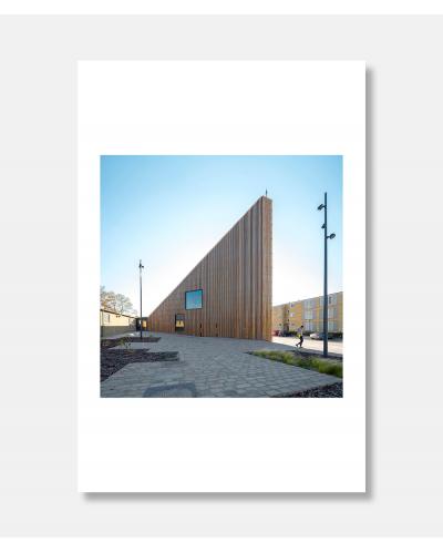 Biblioteket i Tingbjerg - arkitekturfotografi af Jens Markus Lindhe