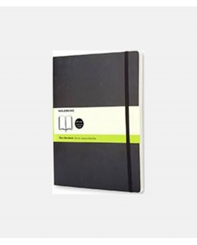 Moleskine Notebook Black Soft Cover XL 19x25 cm