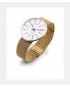 Arne Jacobsen Bankers Clock Gold Mesh Watch