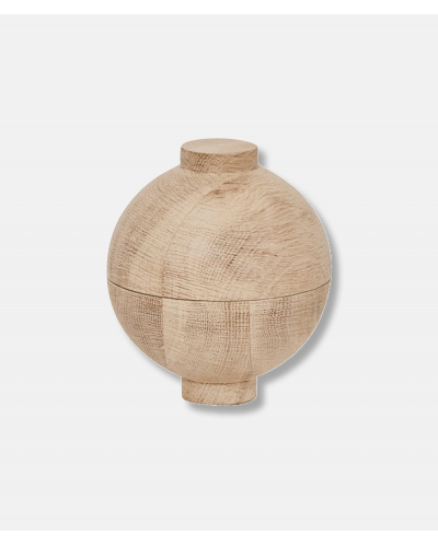 XL Wooden Sphere solid oak