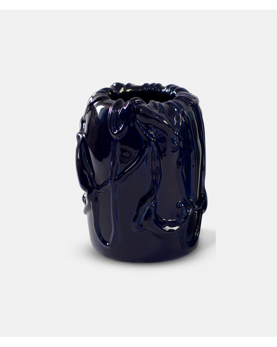 Michael Kvium vase Deep Cobalt