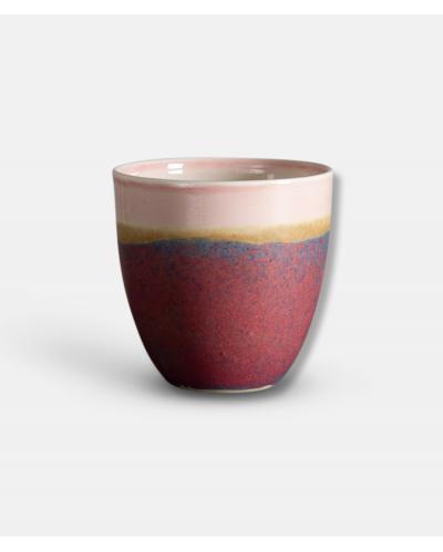 Wauw Pastello keramikkop - rød og grå