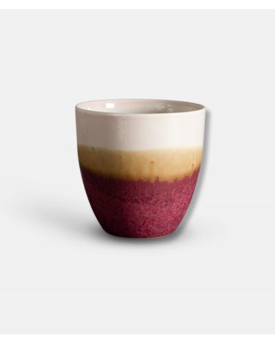 Wauw Pastello keramikkop rød og creme