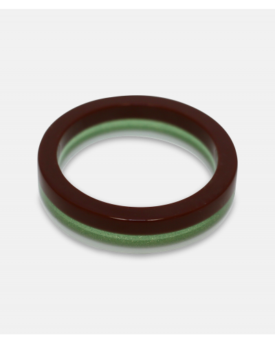 Amanda Linde Single Bracelet A limited edition braun green white