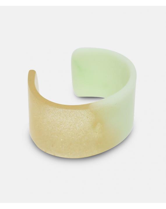 Amanda Linde Double Bracelet B Glitter and light yellow Arkitektens Butik