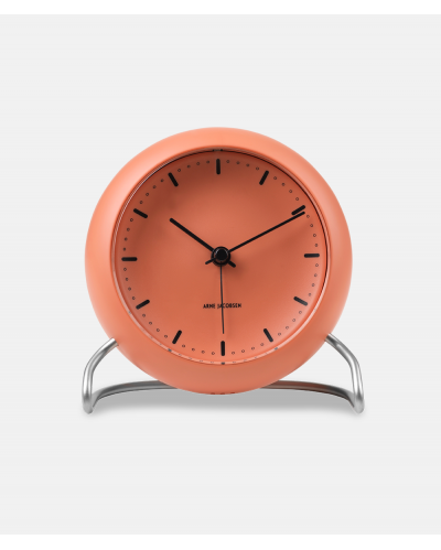 Arne Jacobsen City Hall Table Clock - pale orange