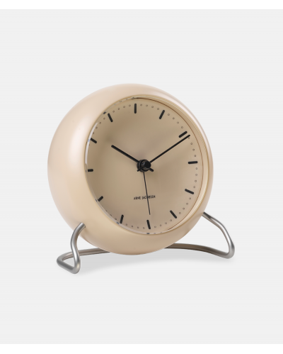 Arne Jacobsen City Hall Table Clock -Sandy Beige