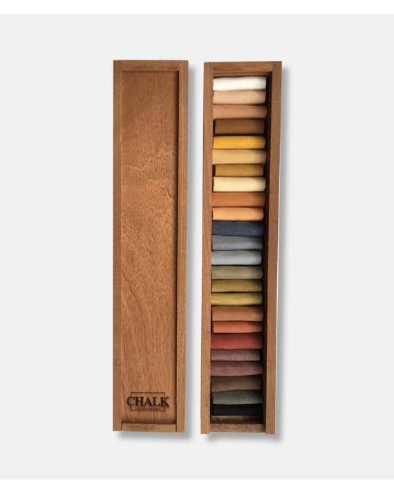 Håndlavede pastelkridt 24 stk Chalk Copenhagen