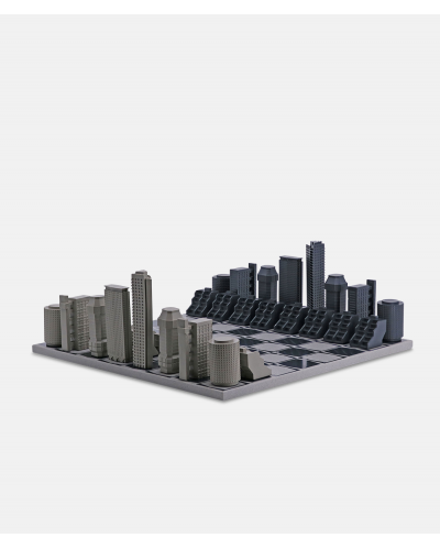 Skyline Chess Brutalist edition