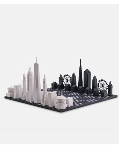 Skyline Chess New York City vs London special edition acrylic set