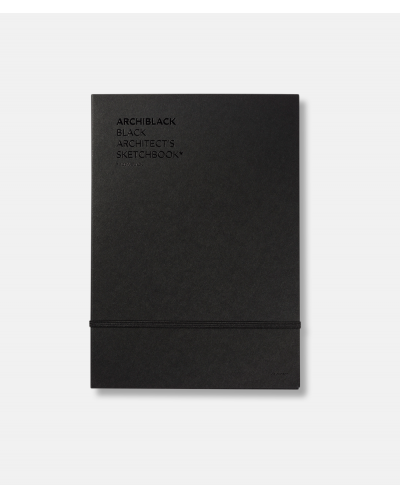Archiblack - black sketchbook + white pencil