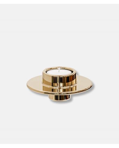 N37 Candleholder Wide Brass - design Nicolai Larsen